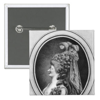 Louise Contat de Parny  in the role of Suzanne 15 Cm Square Badge