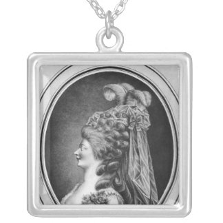 Louise Contat de Parny  in the role of Suzanne Square Pendant Necklace