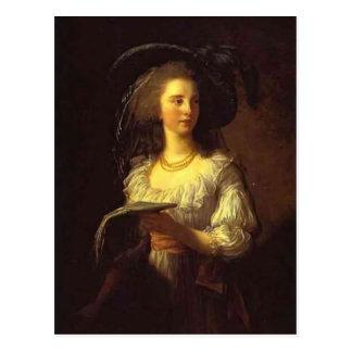 Louise Elisabeth Vigee - The Duchess de Polignac Postcard