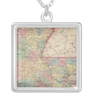 Louisiana 2 silver plated necklace