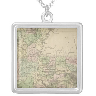 Louisiana 3 silver plated necklace
