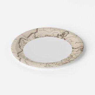 Louisiana 4 paper plate