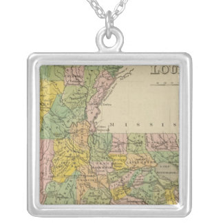 Louisiana 4 silver plated necklace
