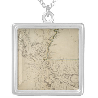 Louisiana 5 silver plated necklace