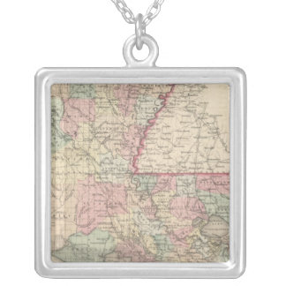 Louisiana 6 silver plated necklace