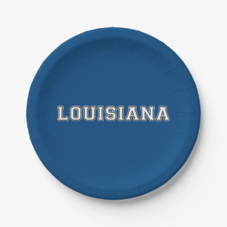 Louisiana 7 Inch Paper Plate