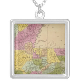 Louisiana 7 silver plated necklace