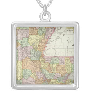 Louisiana 8 silver plated necklace