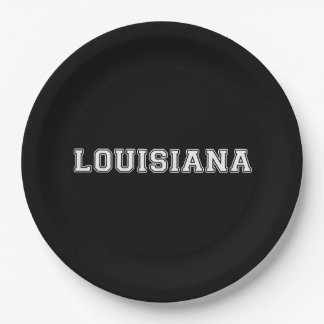 Louisiana 9 Inch Paper Plate
