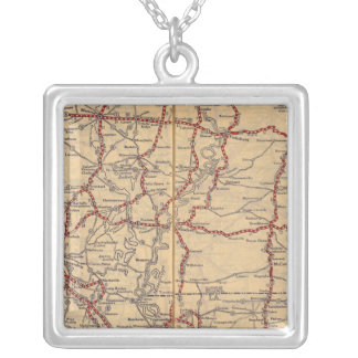 Louisiana 9 silver plated necklace