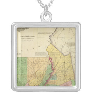 Louisiana and Mississippi 2 Silver Plated Necklace