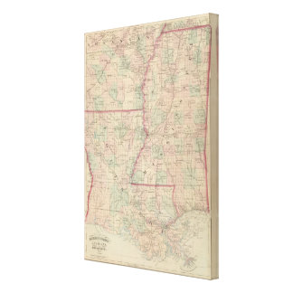 Louisiana and Mississippi 3 Canvas Print