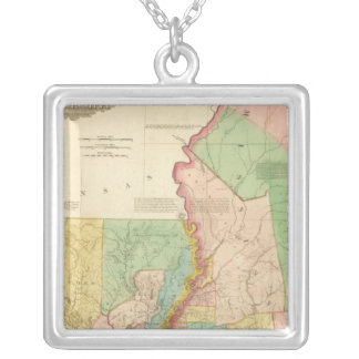 Louisiana and Mississippi 3 Silver Plated Necklace