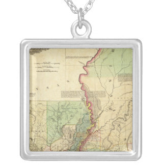 Louisiana and Mississippi Silver Plated Necklace