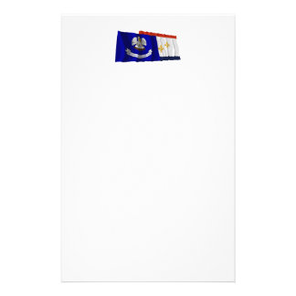 Louisiana and New Orleans Flags Personalised Stationery