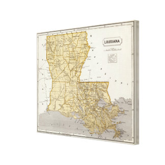 Louisiana Atlas Map Canvas Print