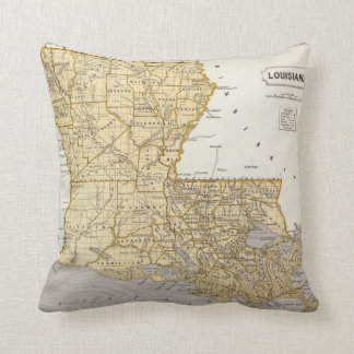 Louisiana Atlas Map Cushion