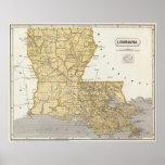 Louisiana Atlas Map Poster