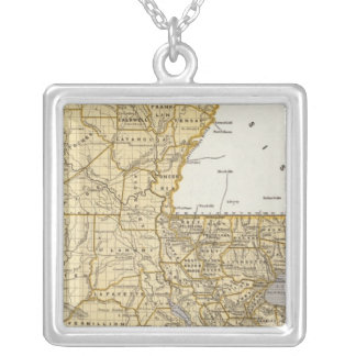 Louisiana Atlas Map Silver Plated Necklace