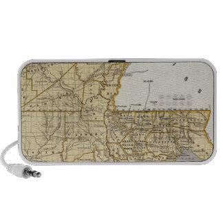 Louisiana Atlas Map iPhone Speakers