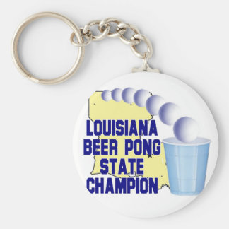 Louisiana Beer Pong Champion Keychains