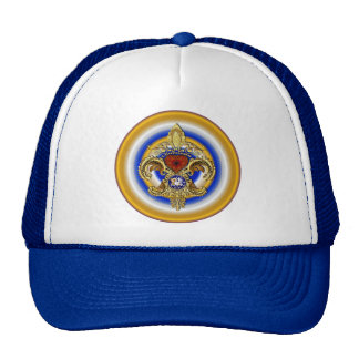 Louisiana Bicentennial Flor de lis View Hints Trucker Hat