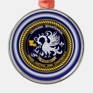 Louisiana Bicentennial Mardi Gras Logo View Hint Christmas Ornament