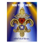 Louisiana Bicentennial Mardi Gras Logo View Hint Post Cards