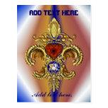 Louisiana Bicentennial Mardi Gras Logo View Hint Postcards