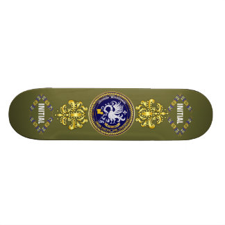 Louisiana Bicentennial Mardi Gras Logo View Hint Skate Decks