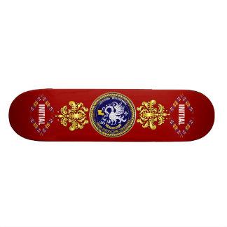 Louisiana Bicentennial Mardi Gras Logo View Hint Custom Skate Board