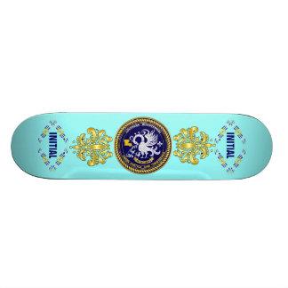 Louisiana Bicentennial Mardi Gras Logo View Hint Skate Deck