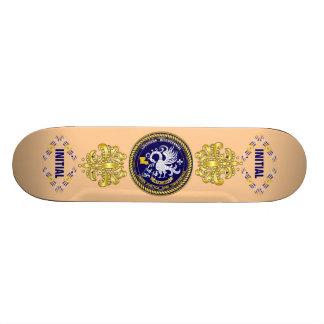Louisiana Bicentennial Mardi Gras Logo View Hint Skate Board Deck