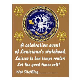 Louisiana Bicentennial  Mardi Gras Party See Notes Flyer Design