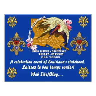 Louisiana Bicentennial  Mardi Gras Party See Notes Full Color Flyer