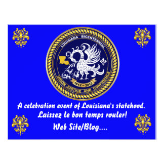 Louisiana Bicentennial Mardi Gras Party See Notes Custom Flyer
