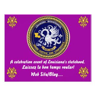 Louisiana Bicentennial  Mardi Gras Party See Notes Flyers