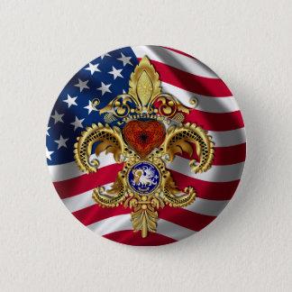 Louisiana Bicentennial Mardi Gras View Hints 6 Cm Round Badge
