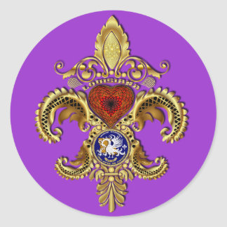 Louisiana Bicentennial Mardi Gras View Hints Round Stickers