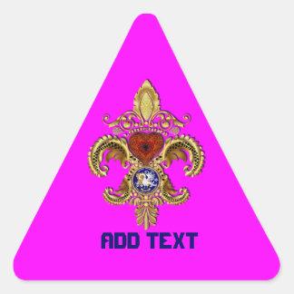 Louisiana Bicentennial Mardi Gras View Hints Triangle Stickers