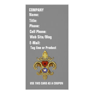 Louisiana Business  Card Photo Vertical Photo Card Template