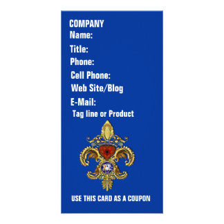 Louisiana Business  Card Photo Vertical Personalized Photo Card