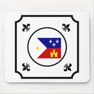 Louisiana Cajun Acadian Flag Themed Mouse Pad