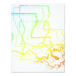 louisiana chill blur 11 cm x 14 cm invitation card