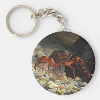 Louisiana Crawfish Basic Round Button Key Ring