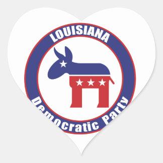 Louisiana Democratic Party Heart Stickers