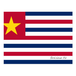 Louisiana Flag 1861 Postcard
