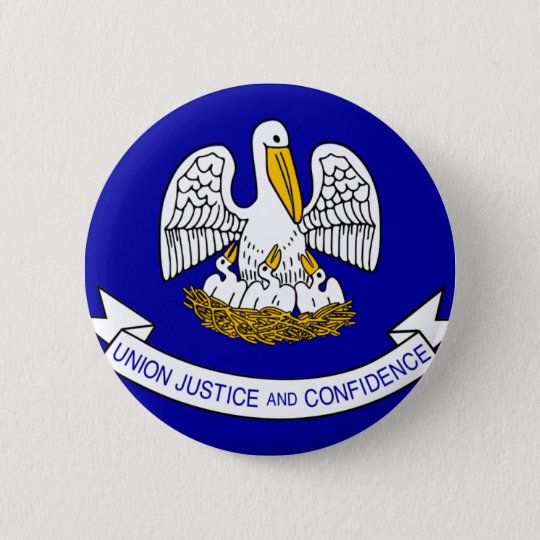Louisiana Flag 6 Cm Round Badge