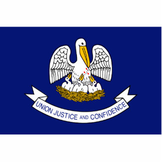 Louisiana Flag Keychain Cut Out