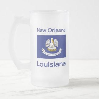 Louisiana Flag Map City Mug